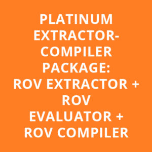 PLATINUM EXTRACTOR-COMPILER PACKAGE: ROV EXTRACTOR + ROV EVALUATOR + ROV COMPILER